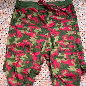 Pink and Green Camouflage sleep pants